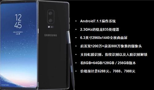 三星Galaxy Note 8配置