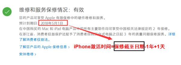 iPhone保修服务信息